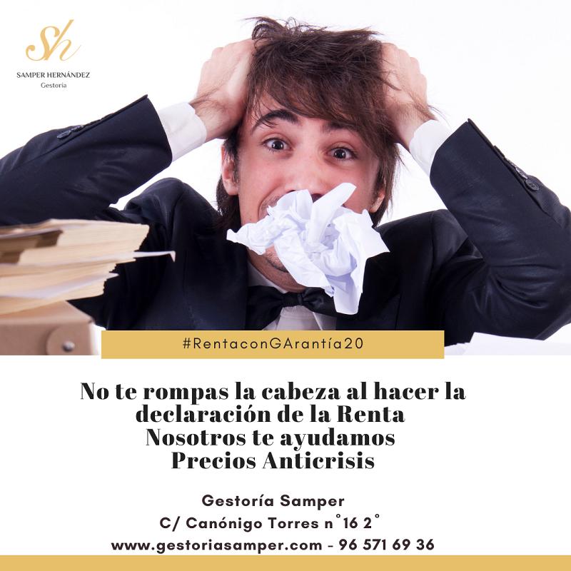 La declaración de la RENTA 2020 en Torrevieja es fácil